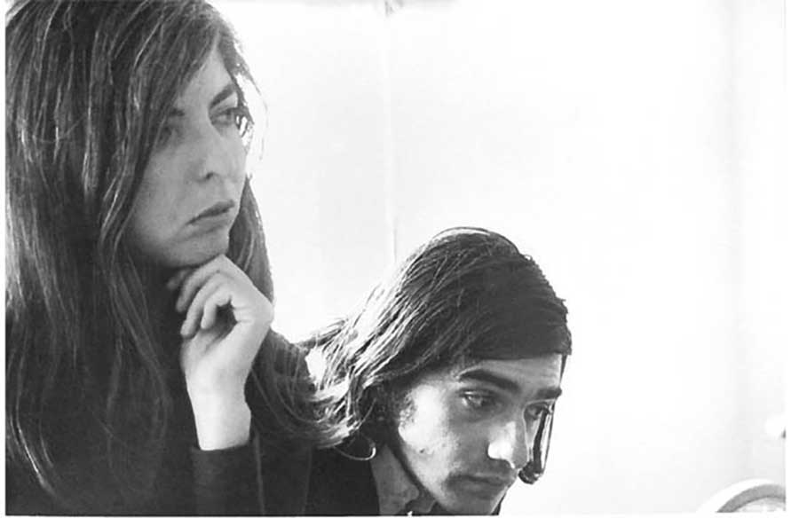 image of a young Thelma Schoonmaker with young Martin Scorsese - Soundsnap