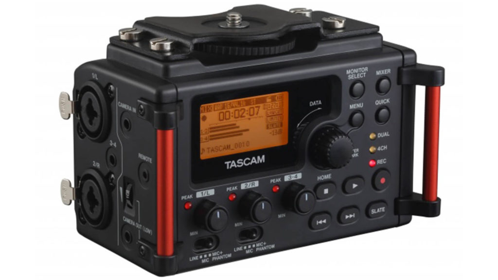 image of tascam dr60d mkii, one of the best audio recorders for filmmakers under $1000