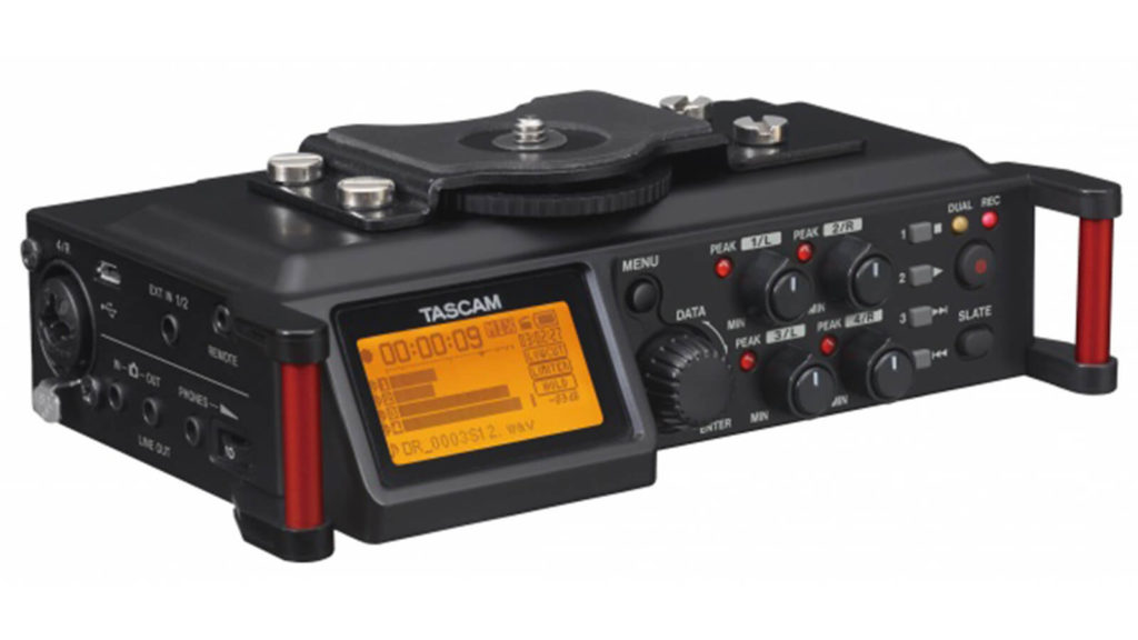 image of tascam dr70d, one of the best audio recorders for filmmakers under $1000