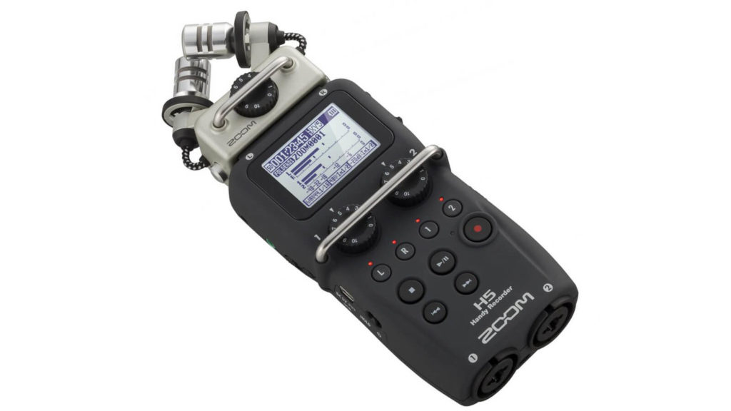 image of zoom h5, one of the best audio recorders for filmmakers under $1000