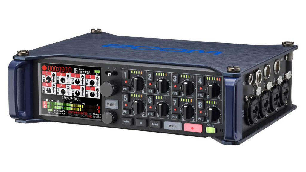 image of zoom f8, one of the best audio recorders for filmmakers under $1000