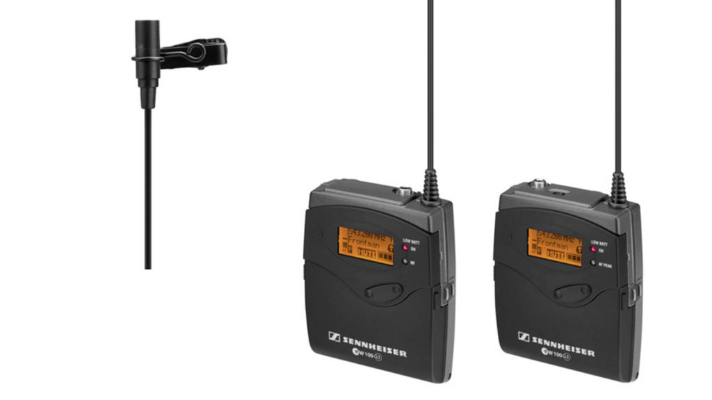 image of Soundsnap's recommended Sennheiser G3 wireless lavalier kit