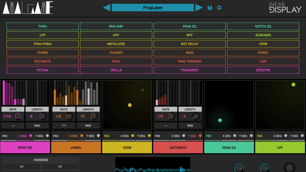 image of InEar Display's Amalgame sound design software