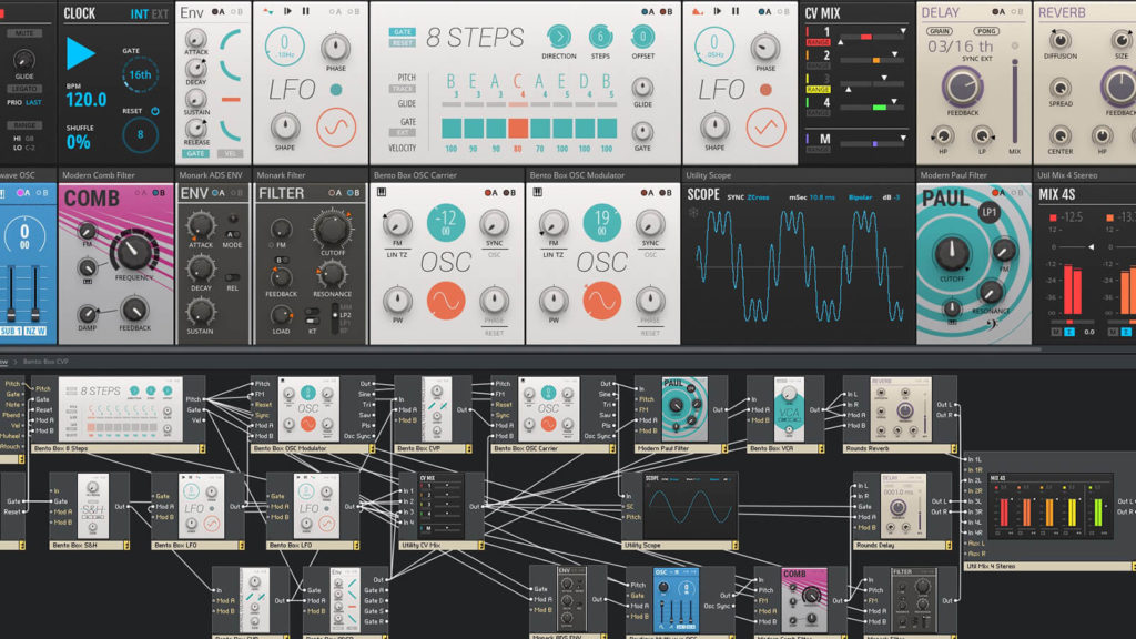 image of Native Instruments' Reaktor 6 sound design synthesis software