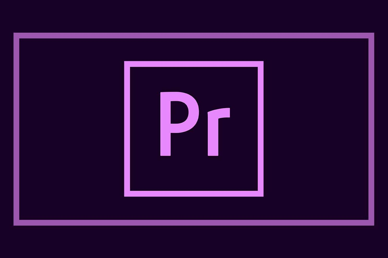 image of premiere pro logo for 5 time savings tips