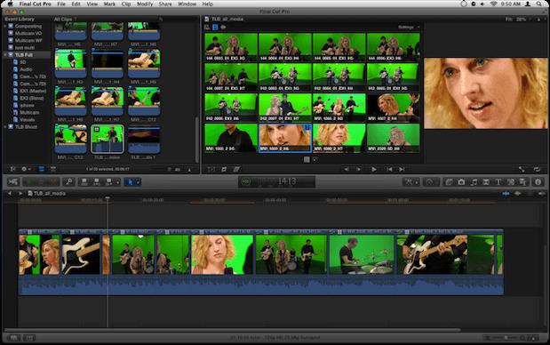 screenshot of an demo reel in final cut pro x