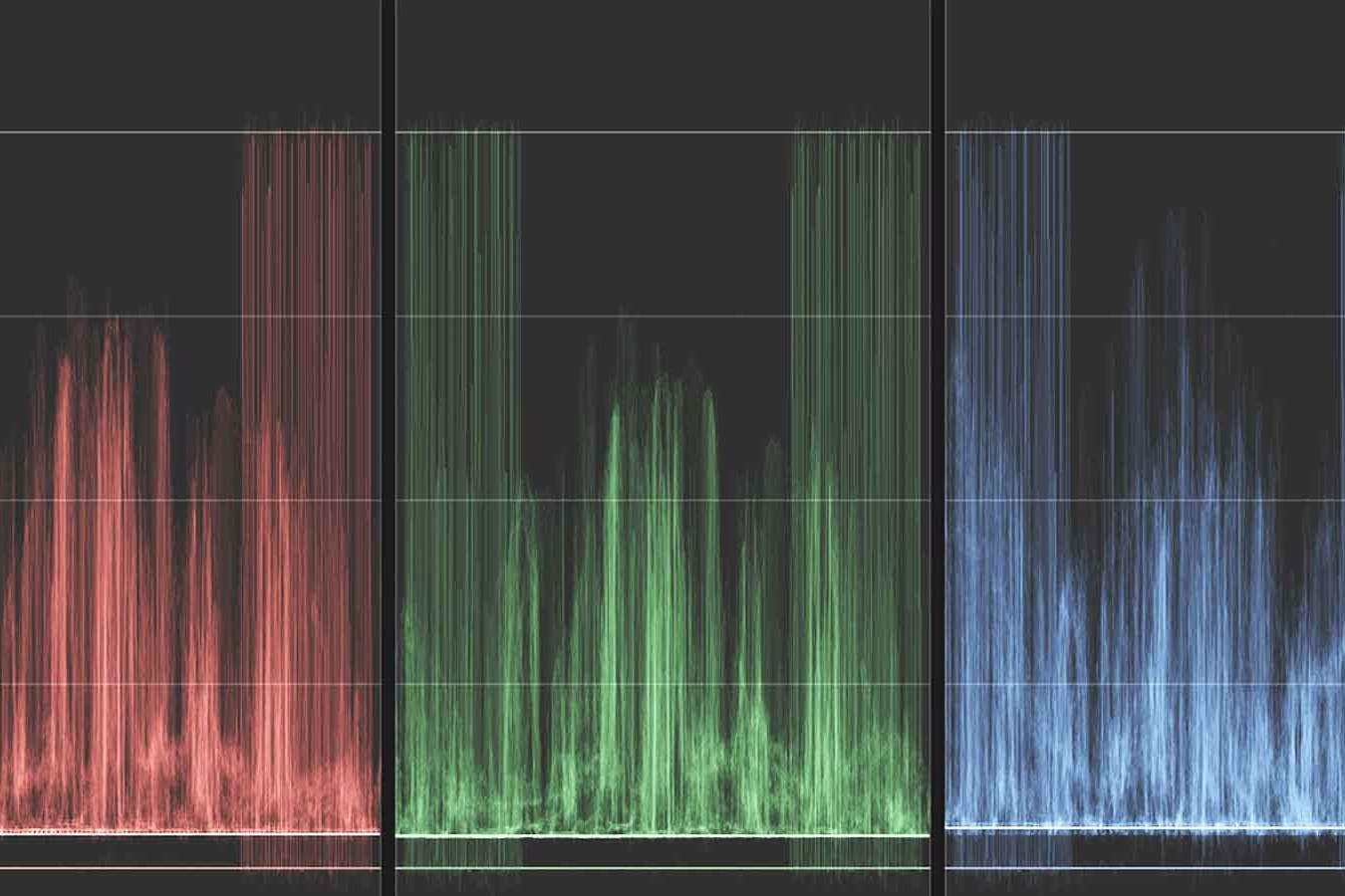 image of RGB parade histogram video scope inside of FCPX