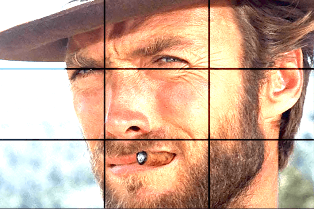 clint eastwood picture with a grid overlay