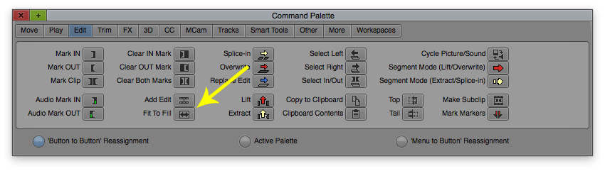 Comman Palette Avid Media Composer