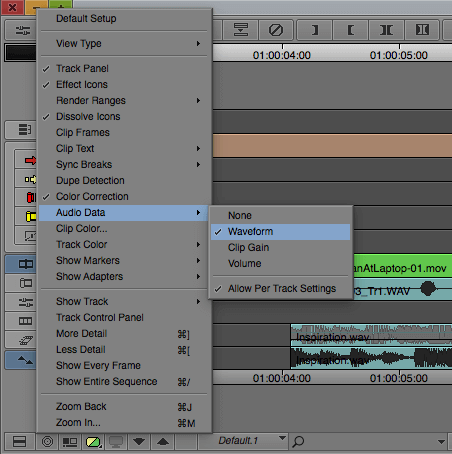 Avid Media Composer Audio Waveform