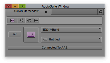 Avid Media Composer - Audio Suite Window