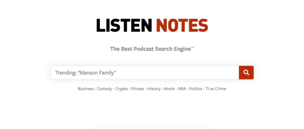 5 - Website - Listennotes