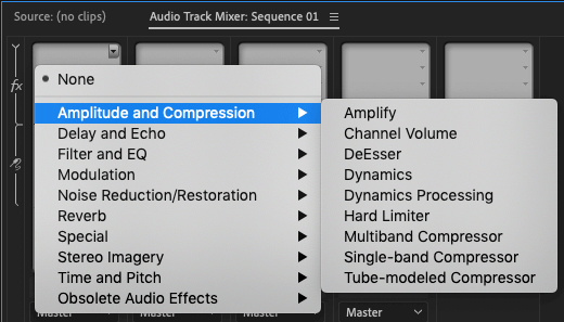 Quickstart Guide to Audio Compression in Premiere - Soundsnap Blog