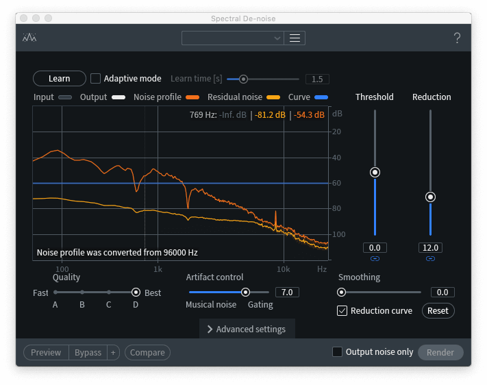 Remove High Frequency Noise Izotope Rx